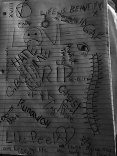 Lil peep is everything Notebook Drawing, Notebook Doodles, League Of Legends, Lil Peep Tattoos, Lil Peep Lyrics, Sharpie Tattoos, Hand Doodles, Lil Peep Beamerboy, Lil Peep Hellboy