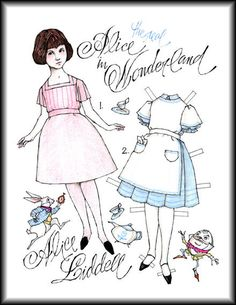 Miss Missy Paper Dolls: Alice by Donald Hendricks ~Alice clothes on Paper Palace Album