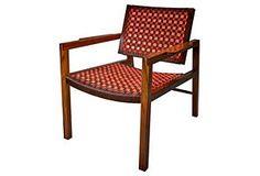Walnut Strap Chair No. 2, Orange