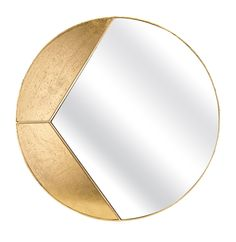 Add a contemporary focal point to your wall with this gorgeous round wall mirror. Crafted in iron and featuring a metallic gold finish, the frame boasts a unique sectional design. Metal Mirror, Round Wall Mirror, Mirror Art, Metal Wall Sculpture, Mural Wall Art, Mirrored Furniture, Coaster Furniture, Stained Glass Patterns, Creations