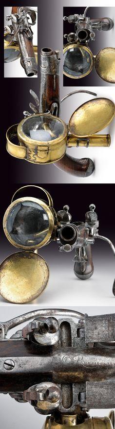 Pistola con linterna incorporada - Francia - C 1800