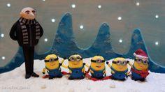 A Minion Christmas Wish - From the Bake a Christmas Wish collaboration :) - by LoveZeeCakes @ CakesDecor.com - cake decorating website