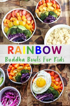 Rainbow Buddha Bowl for Kids – get your kids to eat more fruits and veggies with this kid-friendly buddha bowl recipe! Rainbow Buddha Bowl for Kids – get your kids to eat more fruits and veggies with this kid-friendly buddha bowl recipe! Healthy Superbowl Snacks, Healthy Snacks For Kids, Healthy Recipes, Veggie Snacks, Healthy Lunches, Quick Snacks, Healthy Drinks, Healthy Food, Healthy Eating