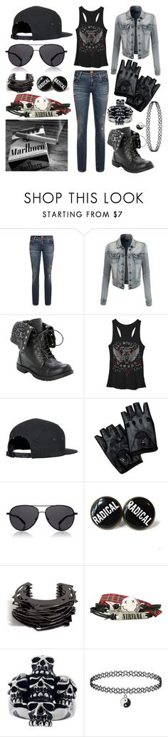 """""""Bad Ass"""" by kaitlyncliffxrd ❤ liked on Polyvore featuring LE3NO, Hot Topic, The Row, Lynn Ban, Mia Sarine, black, Leather, jean and badass"""