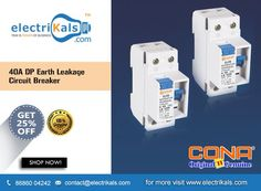 Earth leakage circuit breaker trips/disconnects the circuit when it detects slightest of the earth leakage current like any earthing of . Protecting Your Home, Circuit, Earth, Trips, Miniature, Stuff To Buy, Twitter, Viajes, Traveling
