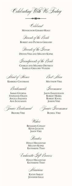 Catholic Wedding Mass Order | Catholic Wedding Program-Wedding Program Examples Wording-Wedding ...