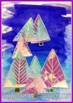 Kids Artists: The Xmas tree isn't green