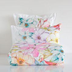 Zara Home Australia Linen Bedroom, Bedroom Bed, Linen Bedding, Bed Linens, Zara Home, Watercolor Bedding, Ideas Habitaciones, Neutral Bed Linen, Toddler Girl Bedding Sets