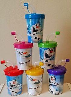 Frozen Snow Princess Olaf DIY Birthday Party Favor Treat Cups Set of 6