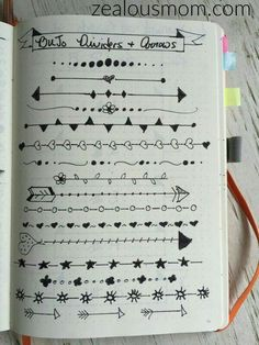 Are you addicted to your Bullet Journal? Check out these tips, tricks, & tools to expereince even more fun and success. - Bullet Journaling: Tips, Tricks, & Tools - Zealous Mom Bullet Journal Inspo, My Journal, Journal Pages, Bullet Journals, Bullet Journal Dividers, Bullet Journal Lined Paper, Bullet Journal Headings, Bullet Journal Frames, Doodling Journal