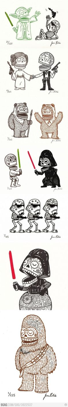 If I were to get a Star Wars tattoo, I'd get one of these. Probably the Storm Troopers