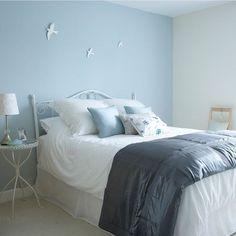 pinture chambre blue et blanc