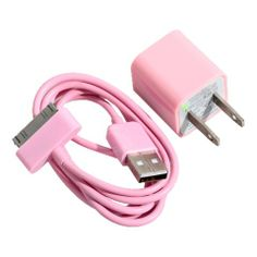Cheap Mini 2 in 1 Charger Kit US Standard USB Power Adapter + USB Cable for iPhone 4/4S/3GS/3G Pink (PINK) | Everbuying.com with FREE shipping! @Rebekah Jones Tilson