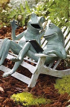 Frog Fountain Garden Sculpture Andy Cobb Outdoor 400 x 300