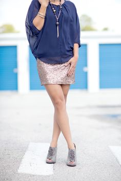 sequins skirt - cool vs warm