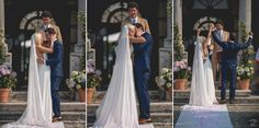 First Kiss | Wedding Day | Outdoor Wedding | Destination Wedding Photographers | Villa Zambonina Wedding | Vigasio, Italy | Verona | Custom Wedding Dress | Tailored Suit | Wedding Fashion | Wedding Inspiration