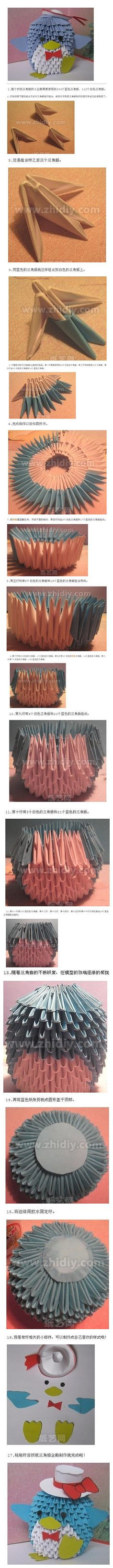 sandylandya@outlook.es  Origami DIY penguin