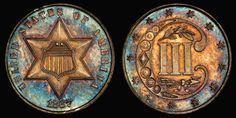 1867 Three Cent Silver PCGS PR64CAM CAC - Submitted by Legend Numismatics (http://www.legendcoin.com/cgi-bin/inventory/browse2.pl?action=new) #CoinOfTheDay #COTD