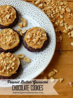 You'll be baking up a batch of her Peanut Butter Ganache Chocolate Cookies tonight! Oh my.