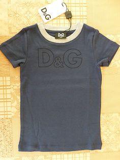 D JUNIOR Girls or Boys Logo Contrast Collar T-shirt, size 4T