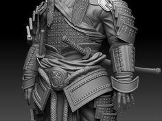 Lotus Samurai - OneLungLewis - ZBrushCentral Kabuto Samurai, Samurai Armor, Katana, Samurai Warrior Tattoo, Samurai Concept, Fallout Concept Art, Zbrush Models, Demon Art, Japanese History