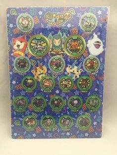 YOKAI WATCH (Z medal ver.) Plastic sheet Pencil Board Made in Japan F/S NEW