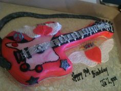 Trifles' Girl Power Guitar Cake