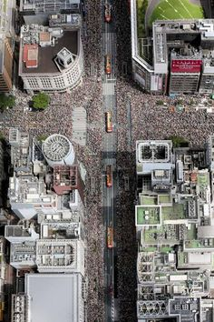 Parade in Ginza, Tokio, Japan Beautiful World, Beautiful Places, World Cities, Aerial Photography, Cityscape Photography, Birds Eye View, Tokyo Japan, Japanese Culture, Aerial View