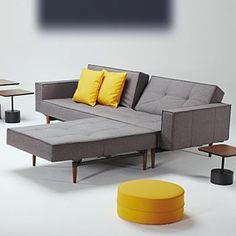 Innovation Innovation Klappsofa Splitback Wood mit Armlehmen,