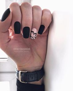 amazing natural summer square nails design for short nails . - amazing natural summer square nails design for short nails – page 16 … – Dreher Blo - Cute Acrylic Nails, Acrylic Nail Designs, Cute Nails, Pretty Nails, Nail Art Designs, Nails Design, Matte Nail Art, Black Nail Art, Square Nail Designs