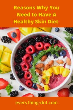 It is obviously important for us to have a healthy skin  diet for the health of our skin. Healthy skin will make us look younger  and healthier. As the largest part of our body, the skin requires  attention. Drinking a lot of water and consuming the foods below will be  a kind of good attention. #healthy #lifestyle  #food