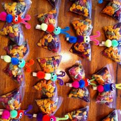 Butterfly snacks for a healthy bday treat at school