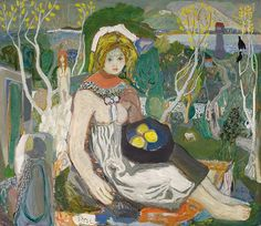 """lawrenceleemagnuson: """" Kai Fjell (Norway 1907-1989) Young Woman (1938) oil on canvas 120 x 140 cm """""""