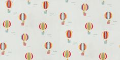 Globus - Paper Moon Wallpapers - A fun hot air balloon design with animals such as mice in the baskets, shown with red yellow and blue balloons on a sky blue background. This is a paste the wall product. Please request a sample for true colour match.