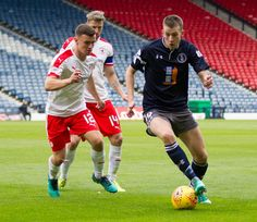 Queen's Park's Luke Donnelly in action during the SPFL League One game between Queen's Park and Raith Rovers.