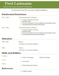 open office writer resume template