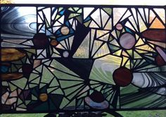 Universe # ? Stained glass panel