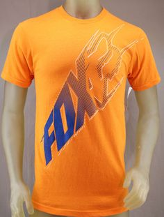 Fox Racing orange T-shirt with blue & white logo