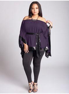 Tanja Tunic in Purple from www.igigi.com