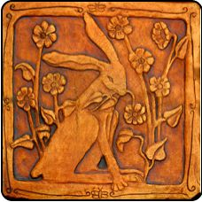 Carved tile rabbit art nouveau arts and crafts aesthetic movement Azulejos Art Nouveau, Motifs Art Nouveau, Art Nouveau Tiles, Art Deco, Clay Tiles, Art Tiles, Sand Crafts, Rabbit Art, 3d Studio