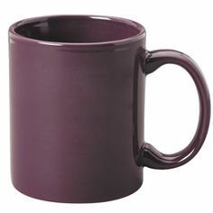 coffee cups or mugs | 11 oz c-handle coffee mug - plum [10318] : Splendids Dinnerware ...