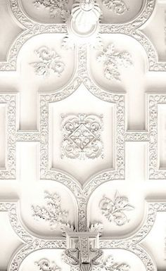 Plaster Ceiling Design + Architectural Mouldings Today's post is a continuation . Plaster Ceiling Design + Architectural Mouldings Today's post is a continuation of the series on Plaster Ceiling Design, Wal Art, Plafond Design, Ceiling Detail, 3d Laser, White Aesthetic, Shades Of White, Architectural Elements, Parisian Style