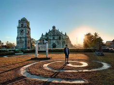 📍 Paoay Church at Paoay, Ilocos Norte 📸 by: Ilocos, Travel Activities, Statue Of Liberty, Philippines, Sunshine, Sky, Building, Instagram, Norte