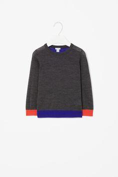 Block-colour jumper