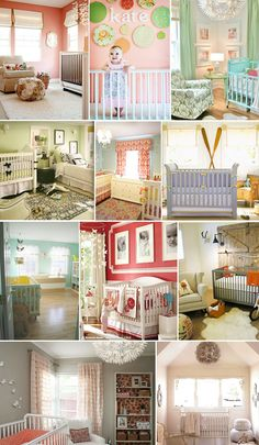 nurseries, love the ruffle curtains