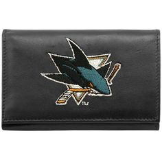 San Jose Sharks Wallet: Embroidered Trifold by Rico. $24.99. Genuine Leather Trifold With Detailed Team Logo Embroidery.