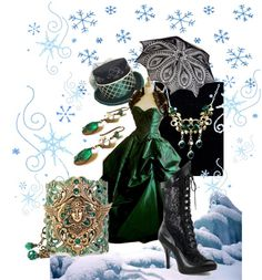 """""""A Victorian Christmas"""" by handmadendesigns on Polyvore"""
