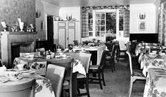 Tour Scotland Photographs: Old Photograph Dining Room Roman Camp Hotel Callander Scotland