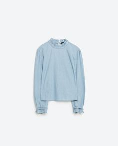 Image 8 of PLEATED COLLAR SHIRT from Zara