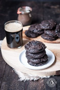 Flourless Chocolate Stout Cookies. One bowl, and so good!